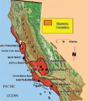Monterey Shale map